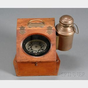 Slant Front Binnacle Compass by Ritchie