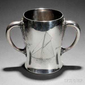 N.G. Wood & Sons Sterling Silver Corinthian Yacht Club Trophy