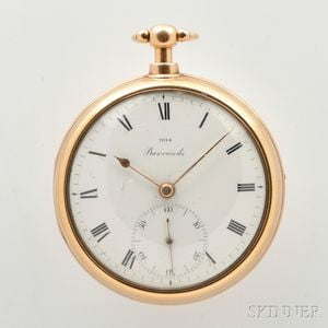 Barrauds 18kt Gold Pair-cased Watch