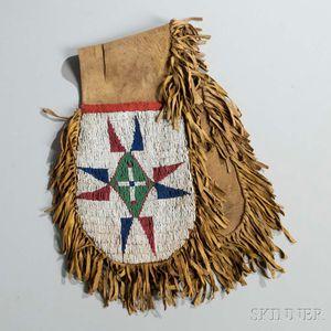 Sioux Beaded Hide Pommel Bags