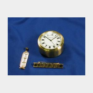 Two Jewelry Items and a Desk Clock