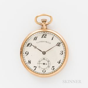 14kt Agassiz Open-face Pocket Watch Signed Tiffany & Co.