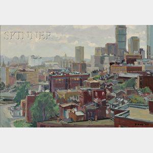 Reed Kay (American, b. 1925)      Boston Buildings I
