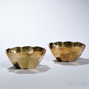 Pair of Tiffany & Co. Sterling Silver-gilt Bowls