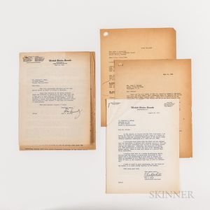 Kennedy, John F. (1917-1963) Typed Letter Secretarially Signed to Richard S. Kelley, 30 June 1955, with Associated Correspondence Regar