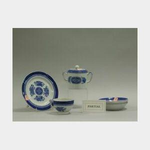 Copeland Spode Blue and White Fitzhugh Pattern Porcelain Partial Dinner Service.