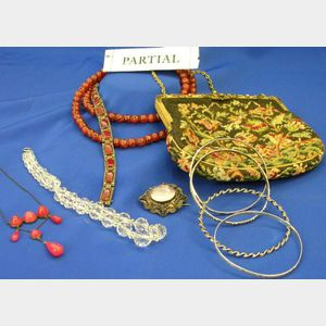 Assorted Vintage Estate and Costume Jewelry, two bags.