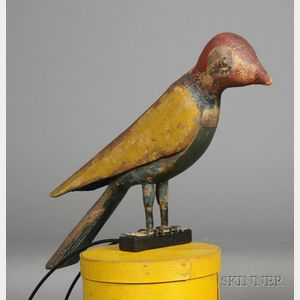 Polychrome Carved Bird Figure