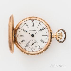 Waltham 14kt Gold Lady's Hunting Case Pocket Watch
