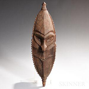 New Guinea Carved Wood Ancestor Mask