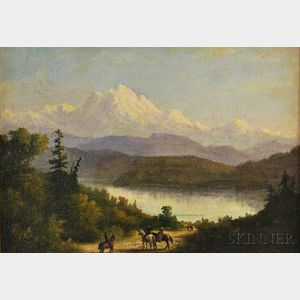 American School, 19th Century      Travellors Viewing Mount Baker, Oregon