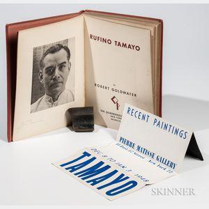 Goldwater, Robert (1907-1973) Ruffino Tamayo  , Signed by Tamayo.