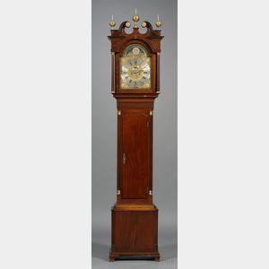 Carved Mahogany Tall Case Clock