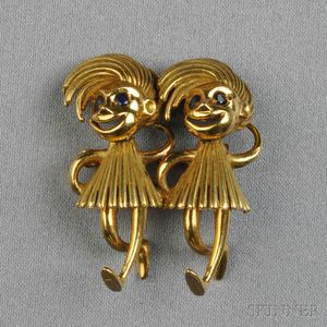 18kt Gold Figural Brooch, Cartier