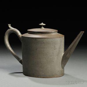 Shaker Tin and Pewter Teapot