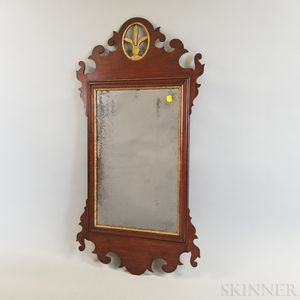 Chippendale Carved Mahogany Scroll-frame Mirror