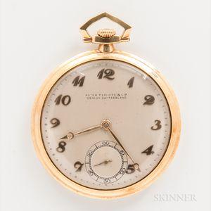 Patek Philippe & Co. 18kt Gold Open-face Pocket Watch