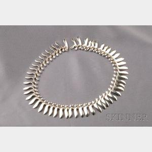 Sterling Silver Fringe Necklace, Georg Jensen
