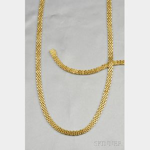 18kt Gold Necklace and Bracelet