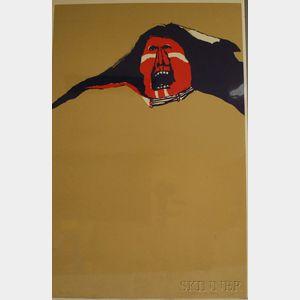 Fritz Scholder (American, 1937-2005)      Red Indian