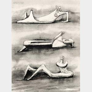 Henry Moore (British, 1898-1986)      Figures in Snow