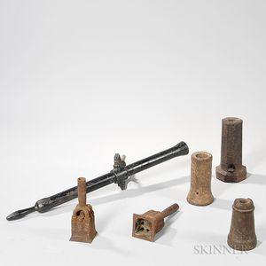 Six Small Asian Artillery Pieces
