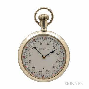 "Hamilton Vernier Seconds Dial ""974"" Open-face Watch"