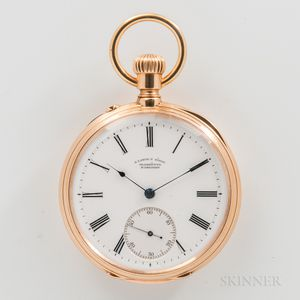 A. Lange & Sohne 18kt Gold Open-face Watch