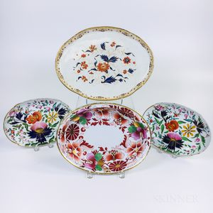 Four English Ceramic Platters