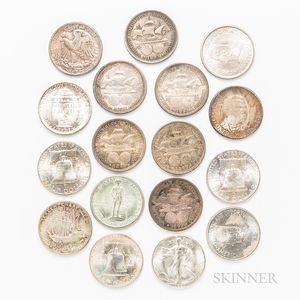 Small Group of Walking Liberty, Franklin, and Commemorative Half Dollars