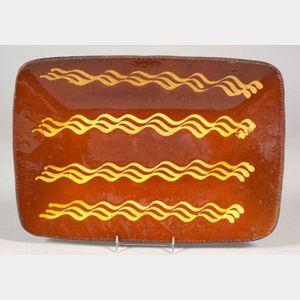 Slip Decorated Redware Loaf Dish
