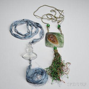Lalique and G. Argy-Rousseau Pendants