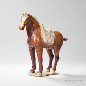 Sancai-glazed Pottery Figure of a Horse