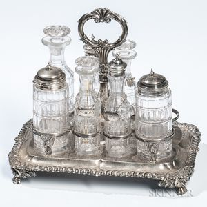 Assembled George III Sterling Silver Cruet Set