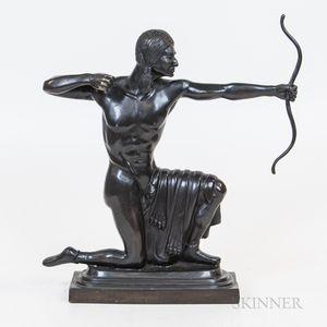 Bronze Statue of a Native American Archer