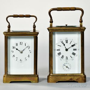 Two Striking Carriage Clocks