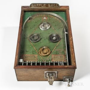 "Coin-operated ""Baffle Ball"" Counter-top Pinball Game"