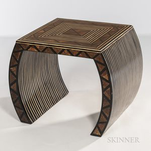 Hand-painted Art Deco Inlaid Table