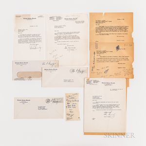 Three John F. Kennedy (1917-1963) Typed Letters Secretarially Signed and One Robert F. Kennedy (1925-1968) Typed Letter Signed to Richa