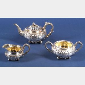 George IV Three-Piece Silver Tea Set