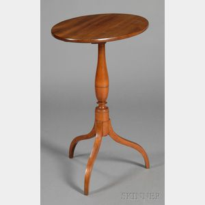 Federal Mahogany and Birch Tilt-top Candlestand
