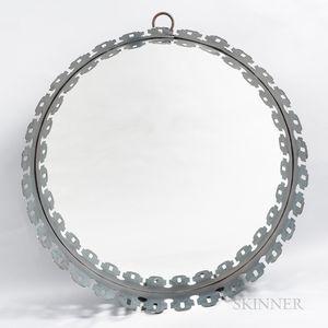 Monumental Steel-framed Mirror
