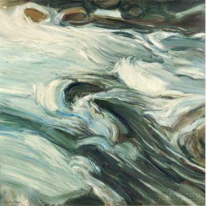 Peter Coker (English, 1926-2004)      Mountain Stream, Pyrenees No. 2