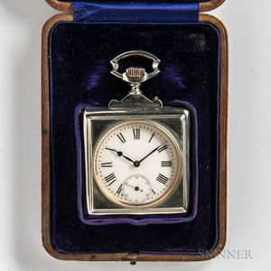 Dobson & Sons Silver Desk Clock