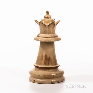 Monumental Ceramic White Queen Chess Piece