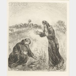 Marc Chagall (Russian/French, 1887-1985)      Elijah and the Widow of Sarepta