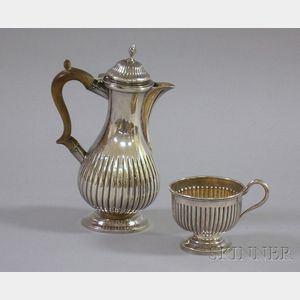 George III Silver Chocolate Pot, London. 1808, Charles Goodwin, Maker