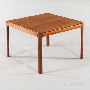 Dux Square Teak Veneer Low End Table
