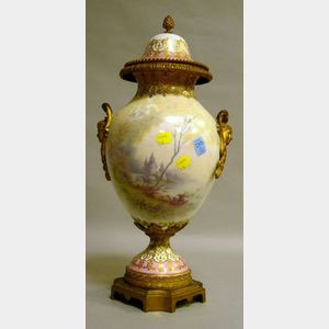 """Sevres"" Porcelain and Gilt-metal Mounted Vase and Cover"