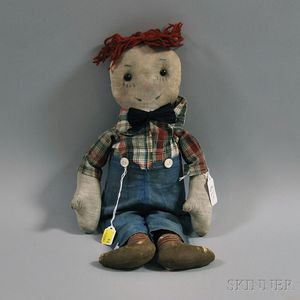 Early Raggedy Andy Cloth Doll
